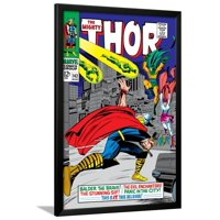 Marvel Comics Retro: The Mighty Thor Comic Book Cover No.143, Sif Framed Poster Wall Art