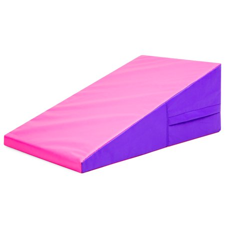 Best Choice Products 38x23x14in Kids Foam Gym Cheese Wedge Mat Incline for Tumbling, Gymnastics -