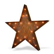 Trekshops Indoor/ Outdoor Commercial Grade Rusted Steel 3 ft. Star Iconic Profession/Commercial MarqueeLight