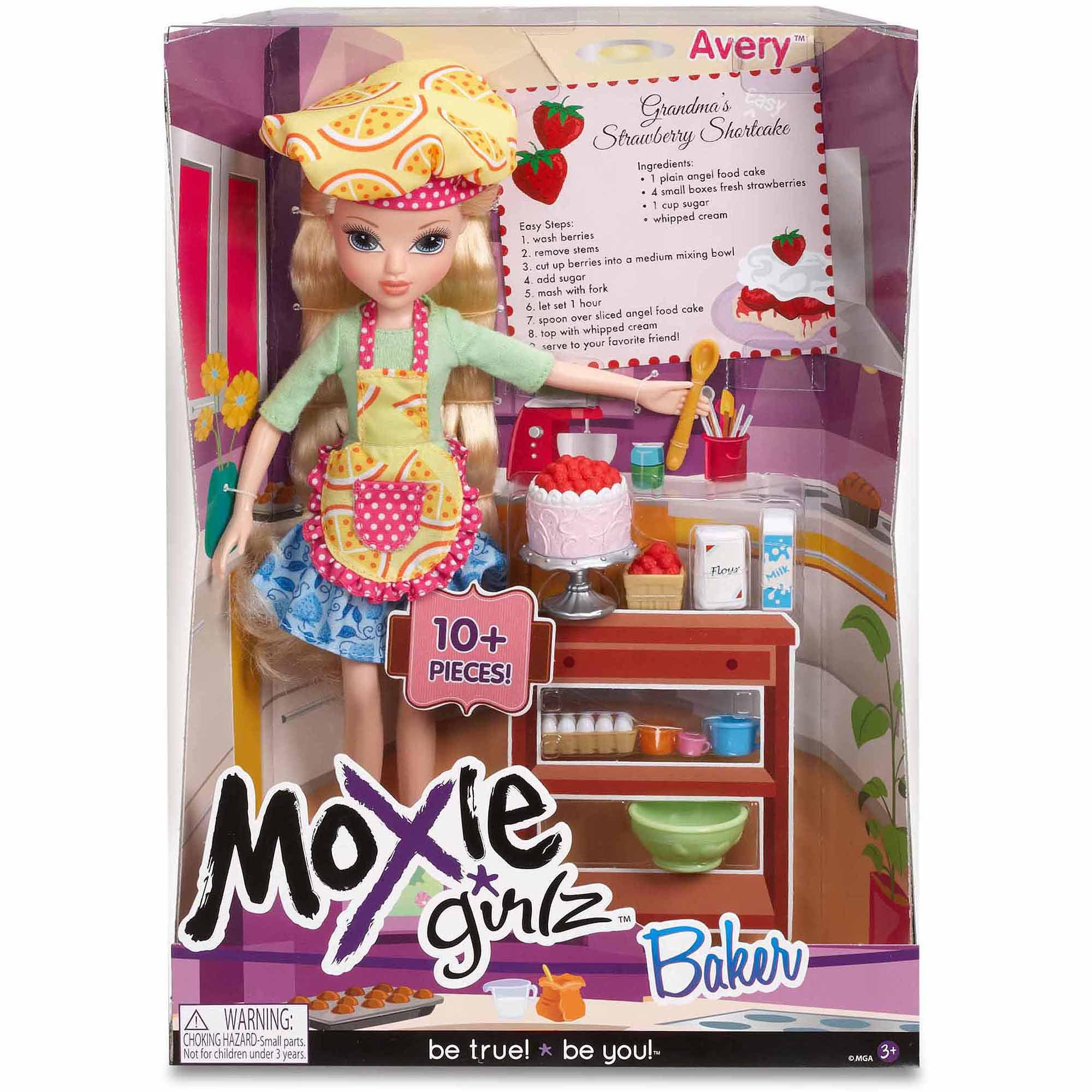 moxie girlz baker doll avery walmart com