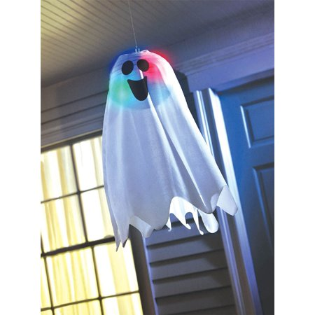Light Up Ghost Fabric Hanging Decoration - Halloween Fabric Decorations