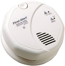 First Alert Photoelectric Smoke And Carbon Monoxide Detector With Voice Alarm, 120 Volt Ac/Dc