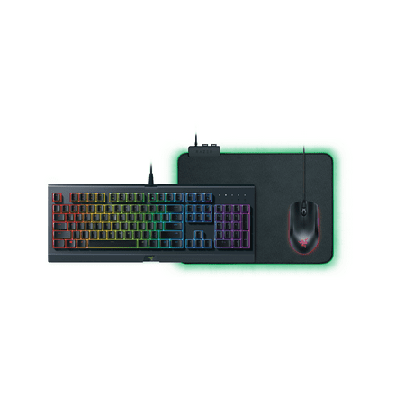 - Razer Holiday Chroma Bundle (2018) - Includes Cynosa Chroma Gaming Keyboard, Abyssus Essential Gaming Mouse, and Goliathus Chroma Gaming Mouse Pad