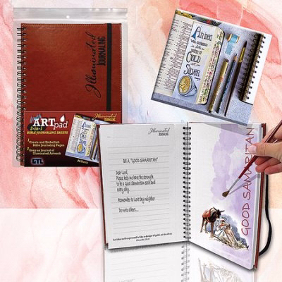 Faith ARTPad 2-In-1 Bible Journaling Sheets (80 Sheets)