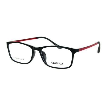 Narrow Rectangular Thin Plastic Optical Quality Eyeglasses Frame Black (Lightweight Plastic Eyeglass Frames)