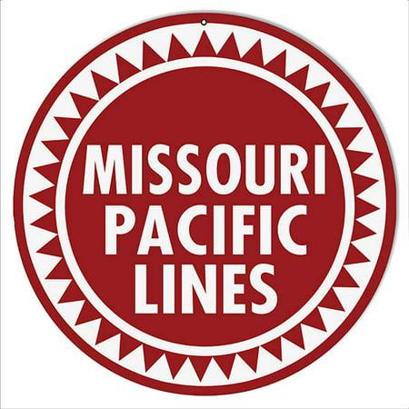 Missouri Pacific Lines railroad Sign 14 Round
