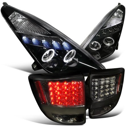 Spec-D Tuning 2000-2005 Toyota Celica Projector Headlights + Led Tail Lights Smoke Combo (Left + Right) 00 01 02 03 04 05