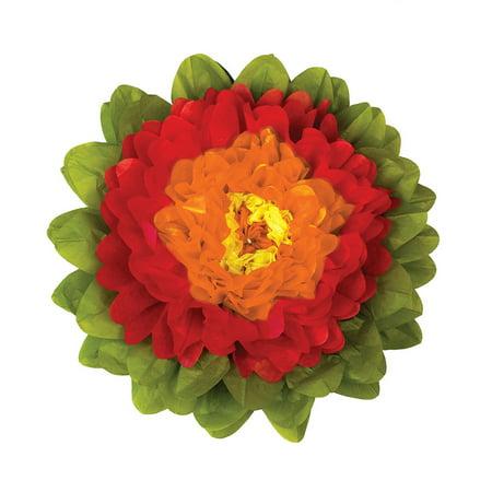 Large Tissue Paper Flower (15-Inch, Tangerine Orange & (12 Orange Tissue)