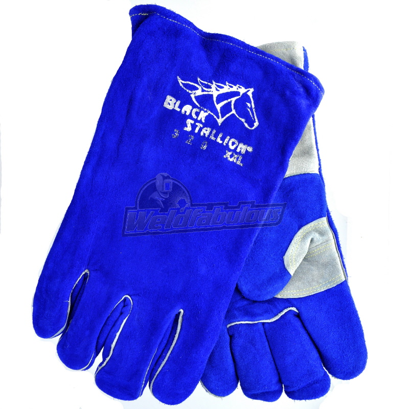 Black Stallion 320 CushionCore Split Cowhide Stick Welding Gloves, 2X-Large