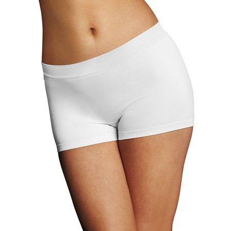 Women's Pure Genius Tailored Boyshort Panty White 5 5 (Hipster Glasss)