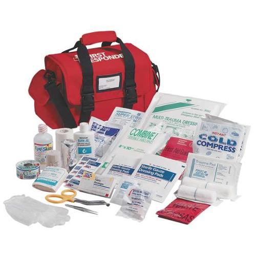 FIRST AID ONLY 520-FR First Responder Kit, Red, Nylon