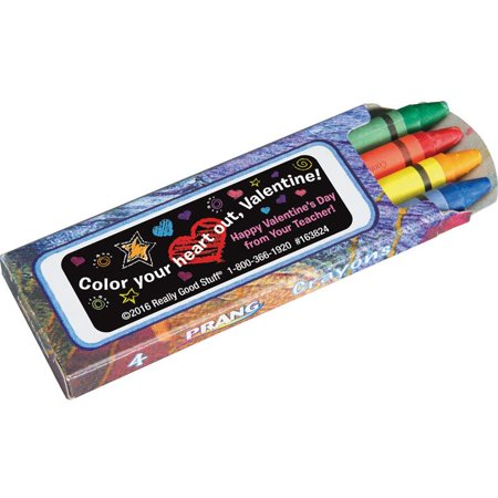 Color Your Heart Out Valentine Crayons