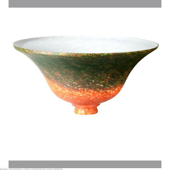 Meyda Tiffany 11275 Red Green Pate-De-Verre Bell Shade by Meyda