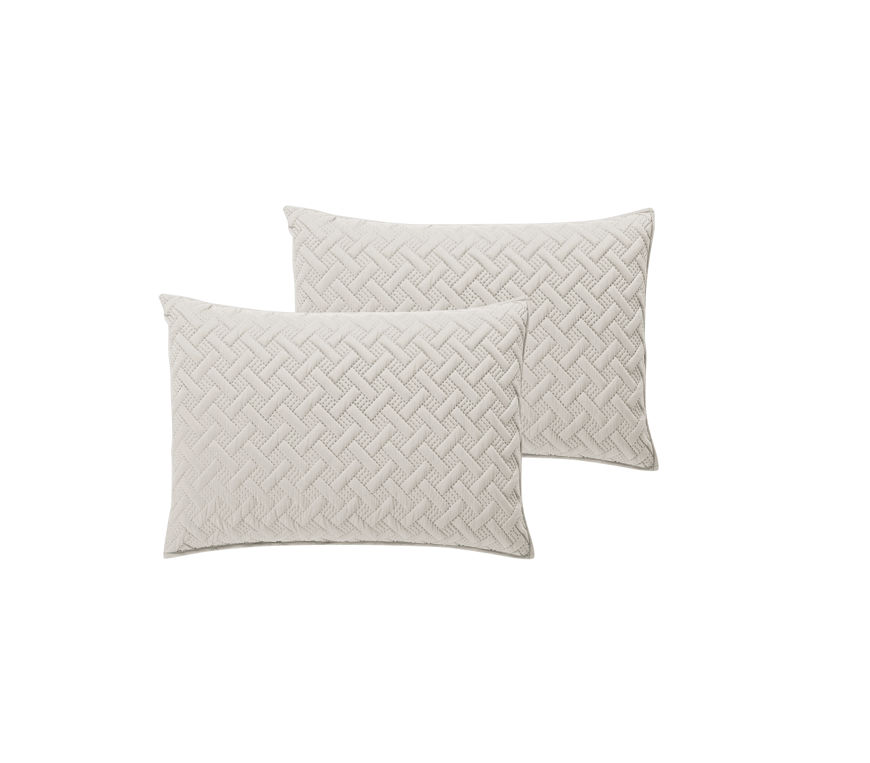 Mainstays Vanilla Emma Solid Basketweave Quilt and Shams by VCNY Home
