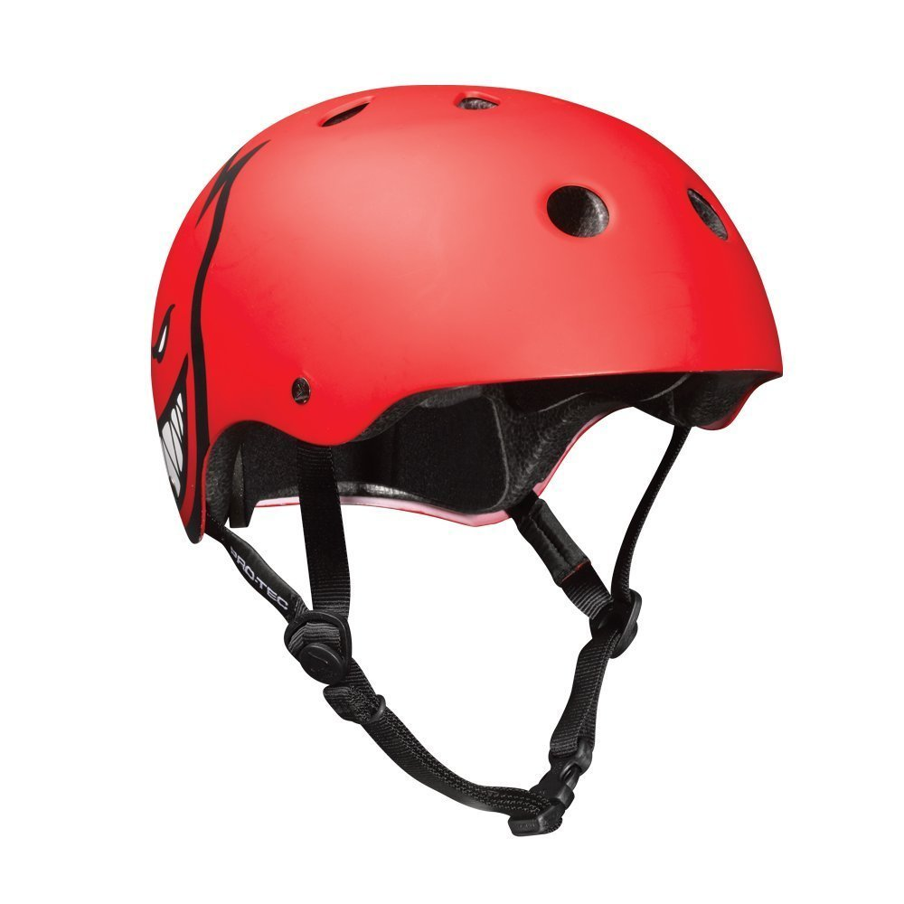 Pro-Tec Classic Skateboard Safety Helmet - Spitfire Red - Large