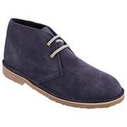 Roamers Unisex ORIGINAL Suede Leather Desert Boots Purple Mens Womens Kids NEW