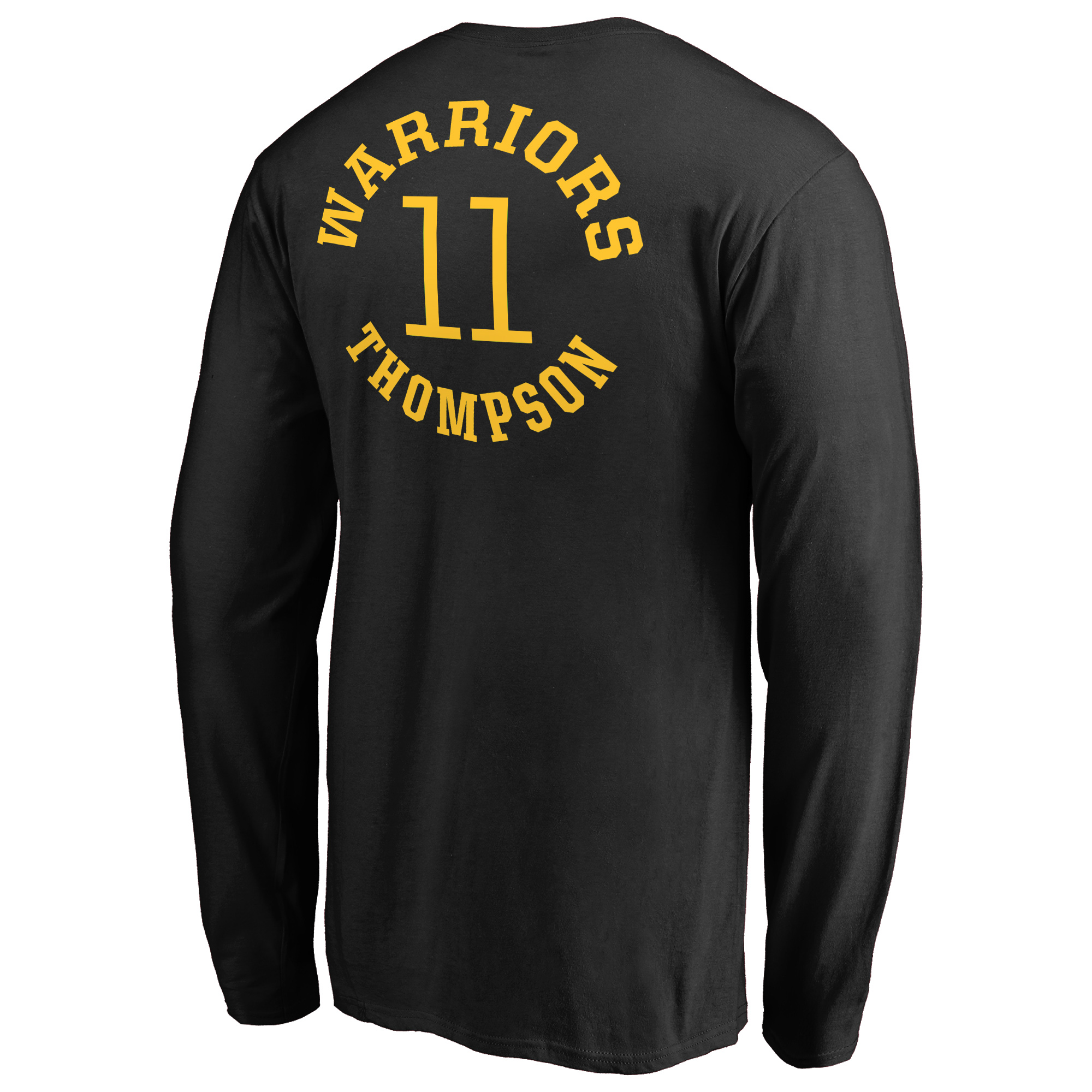 huge selection of cef6b 40367 Klay Thompson Golden State Warriors Fanatics Branded Round About Name &  Number Long Sleeve T-Shirt - Black