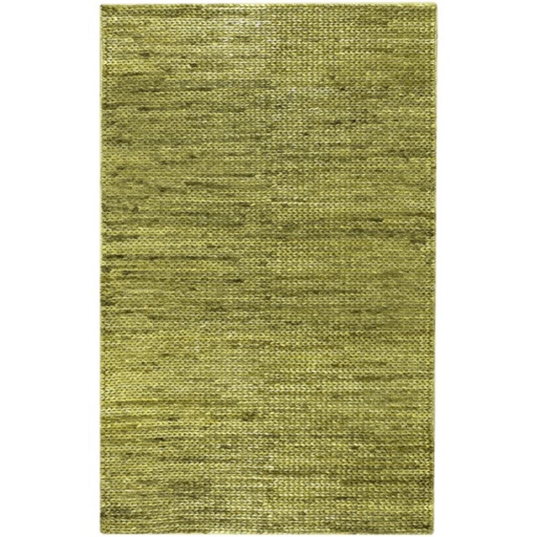 8' x 11' Natures Tropical Beach Lime Green Hand Woven Area Throw Rug