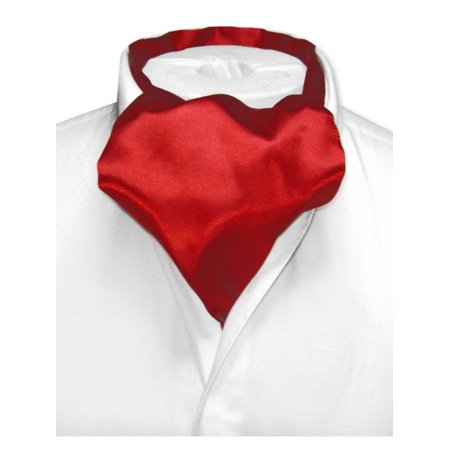 Biagio ASCOT Solid DARK RED Color Cravat Men's Neck Tie