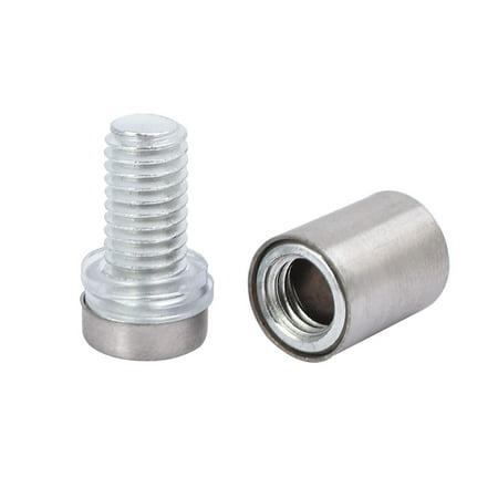 12mmx30mm Stainless Steel Advertisement Fixing Screws Glass Standoff Pins 20pcs - image 2 de 3