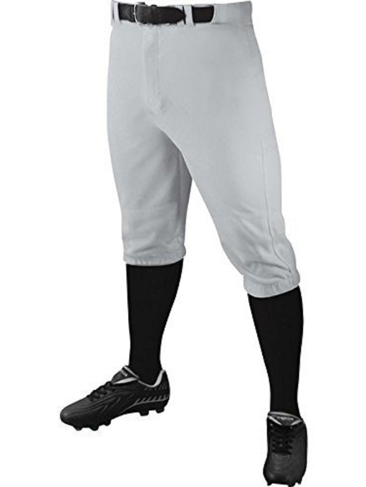 Champro Youth Triple Crown Knicker Pants (Grey, Small), FEEL YOUR BEST, PLAY YOUR BEST: Champros Triple Crown Knicker Pants are tough against running.., By Champro Sports from USA