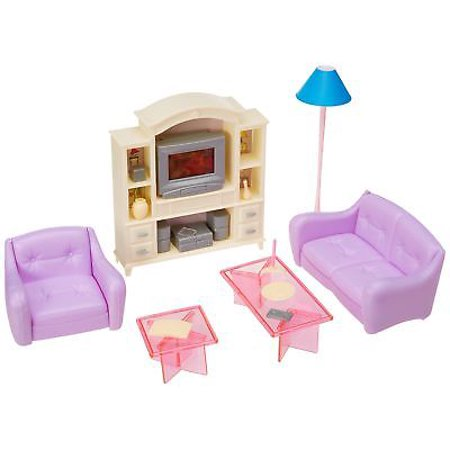 My Fancy Life Barbie Size Dollhouse Furniture Living Room With Tv Dvd Set And