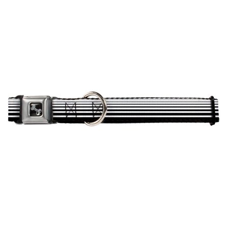 white and black horizontal stripes fun animal seatbelt pet collar