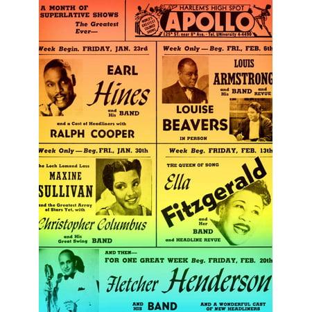 Rainbow Take on an Old Apollo Theater Performance Calendar Print Wall