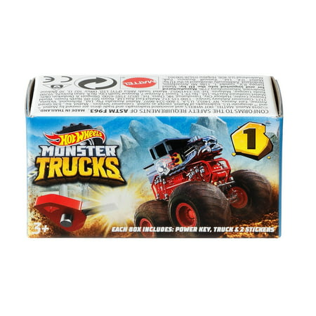 Hot Wheels Monster Trucks Mystery Blind Box (Styles May Vary) Competition Monster Truck Engine