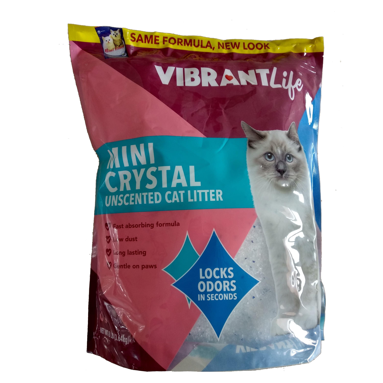 Vibrant Life Mini Crystal Cat Litter, Unscented, 8 lb