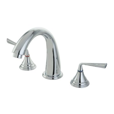 Kingston Brass Silver Sage Double Handle Roman Tub Faucet