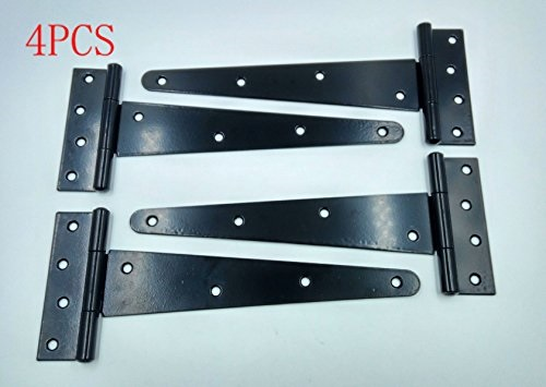 """Gates Colonial Style Heavy Duty T Hinge 4/"""" Strap Hinge Shed Doors"""