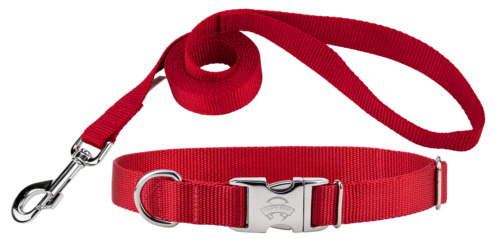 Country Brook Design | Premium Nylon Dog Collar and Leash by Country Brook Design