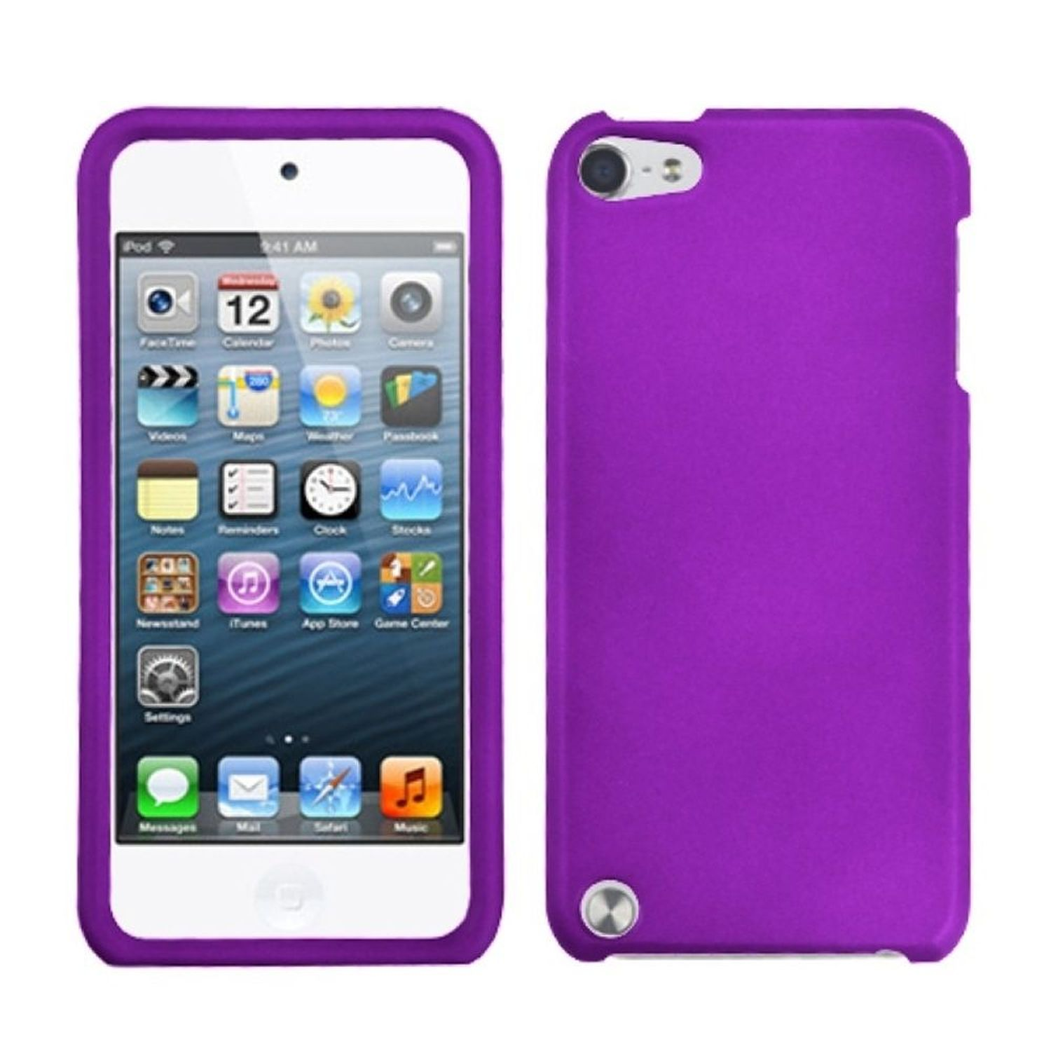 Insten Grape Phone Protector Cover(Rubberized) Case For iPod Touch 6 6th 5 5th Gen