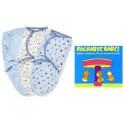 Summer Infant SwaddleMe Swaddling Blanket 3-Pack with Rockabye Baby Dave Matthews CD, Small-Medium, Sports