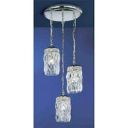18 in. Cascade Pendant Light (English Bronze - Crystalique)