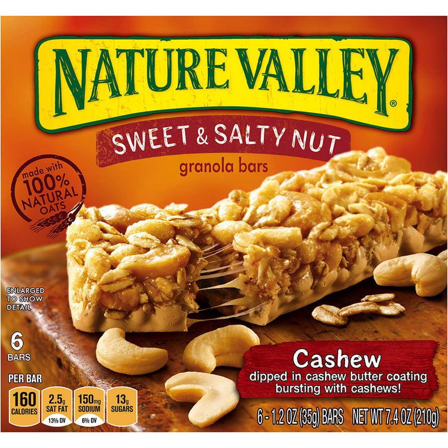 Nature Valley® Cashew Sweet & Salty Nut Granola Bars 6 ct. Box