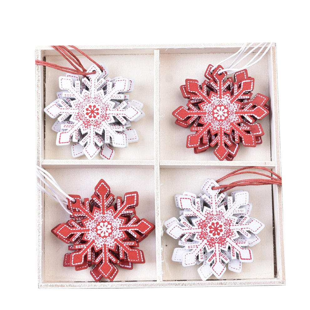 Natural Wood Christmas Ornaments Pendant Hanging Gifts Snowflakes Xmas Tree Decor Home Hanging Decorations Walmart Canada