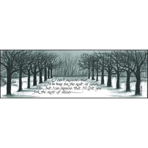 LPG Greetings Life Lines I Can't Promise by Lori Voskuil-Dutter Graphic Art Plaque