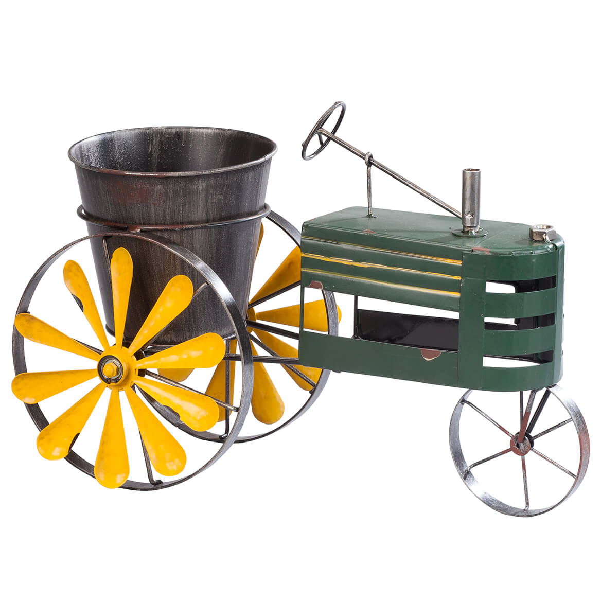 Metal Tractor Windmill Planter by Fox River CreationsTM by Fox Valley Traders