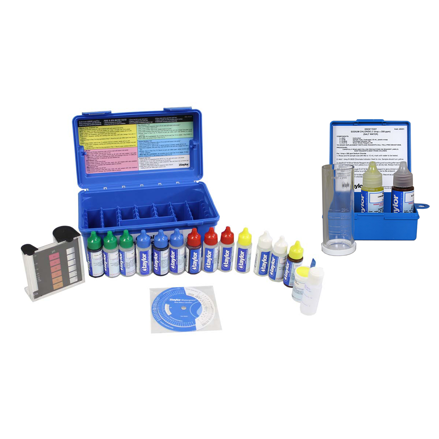 Taylor Complete Swimming Pool/Spa Test Kit +  Sodium Chloride Salt Water Test