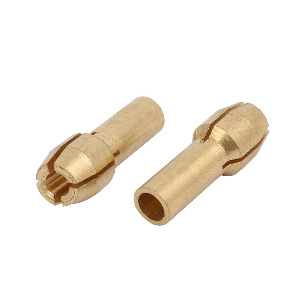 Unique Bargains 15pcs 2.4mm Clamping Dia Brass Qucik Change Collet Nut for Rotary Power Tool - image 2 de 3