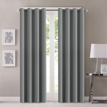H Versailtex Window Treatment Energy Saving Thermal Insulated Solid Grommet Blackout Curtains Ds For Living Room Two Panels 52 By 84 Inch Dove