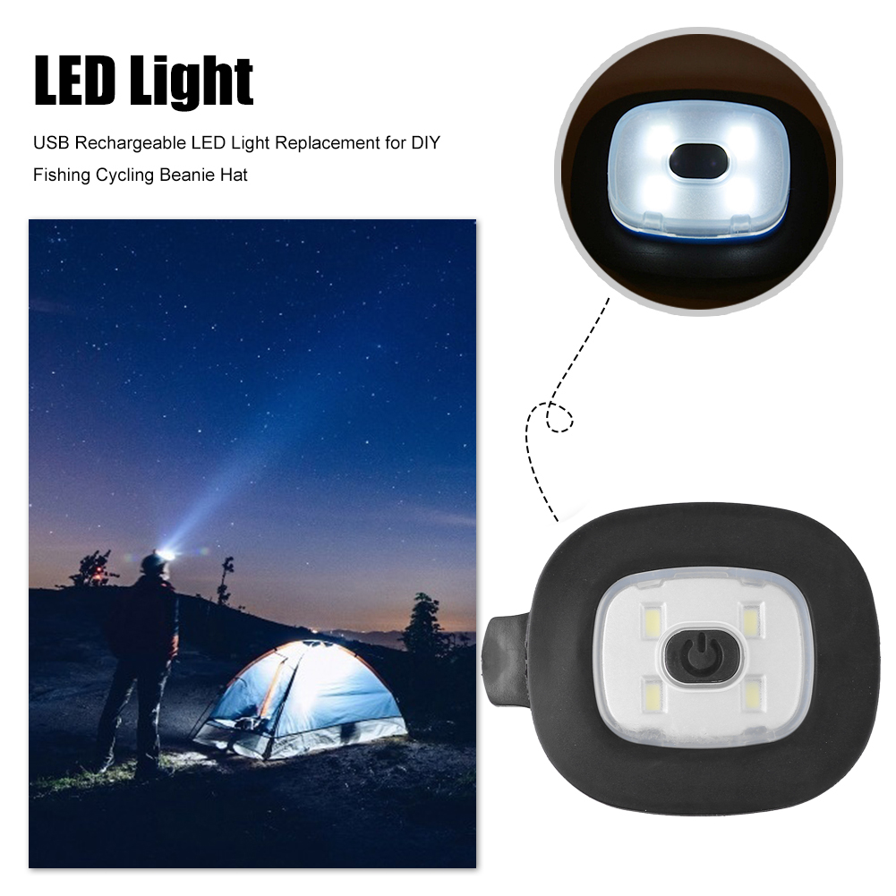 Details about  /USB Rechargeable LED Light Replacement for DIY Fishing Cycling Beanie Hat