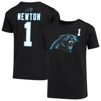 Youth Cam Newton Black Carolina Panthers Name & Number Player T-Shirt