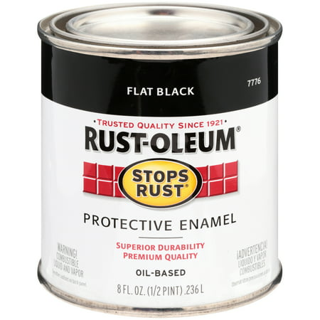 Rust-Oleum® Stops Rust® Flat Black Oil-Based Protective Enamel 8 fl. oz.