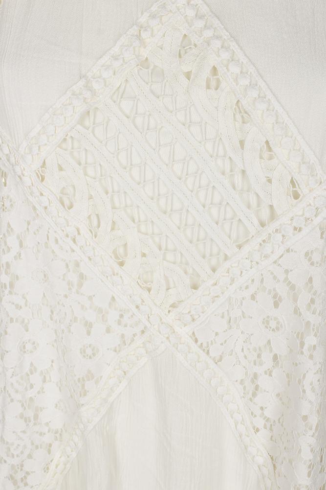 edecc4c7c AmericanRag - American Rag Juniors Ivory Sleeveless Lace Inset Mock-Neck  Shift Dress S - Walmart.com