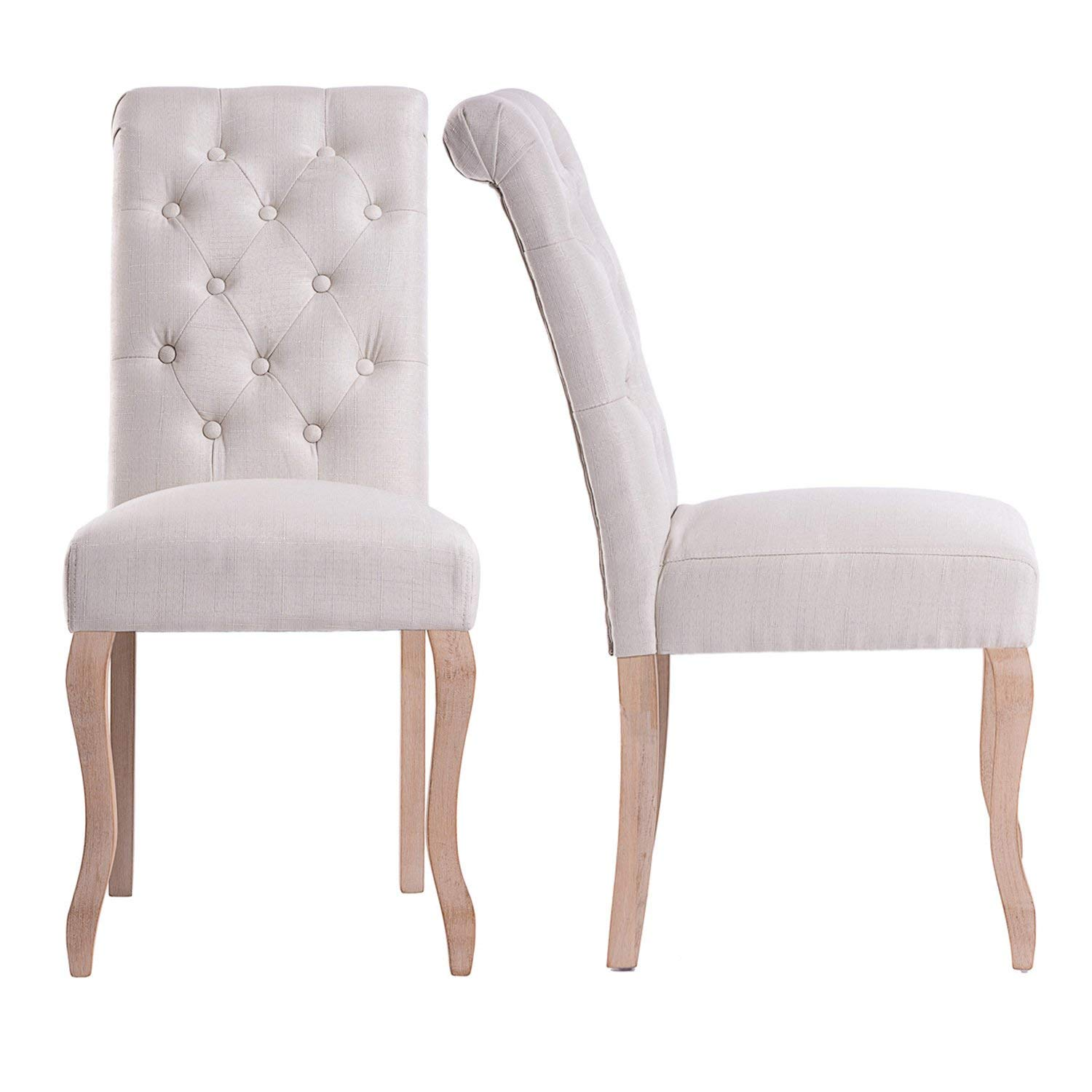 Harper&Bright Designs 2-Piece Button Tufted Upholstered Dining Chairs Set, Multiple Colors