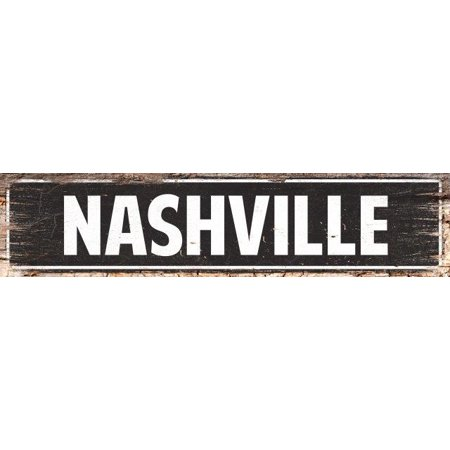 NASHVILLE Street Plate Sign Bar Store Shop Cafe Home Kitchen Chic Decor - Shop Home Decor