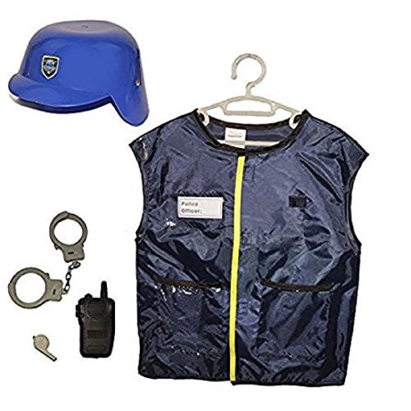 Police Custome (Dazzling Toys Kids Pretend Play Police Officer Costume Set with)